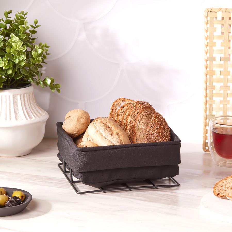 Karaca Fonte Siyah Medium Ekmek Sepeti