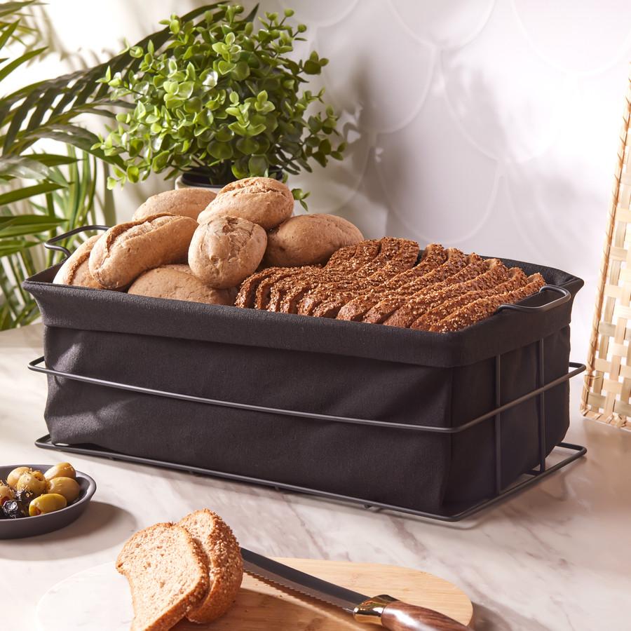 Karaca Fonte Siyah Large Ekmek Kutusu