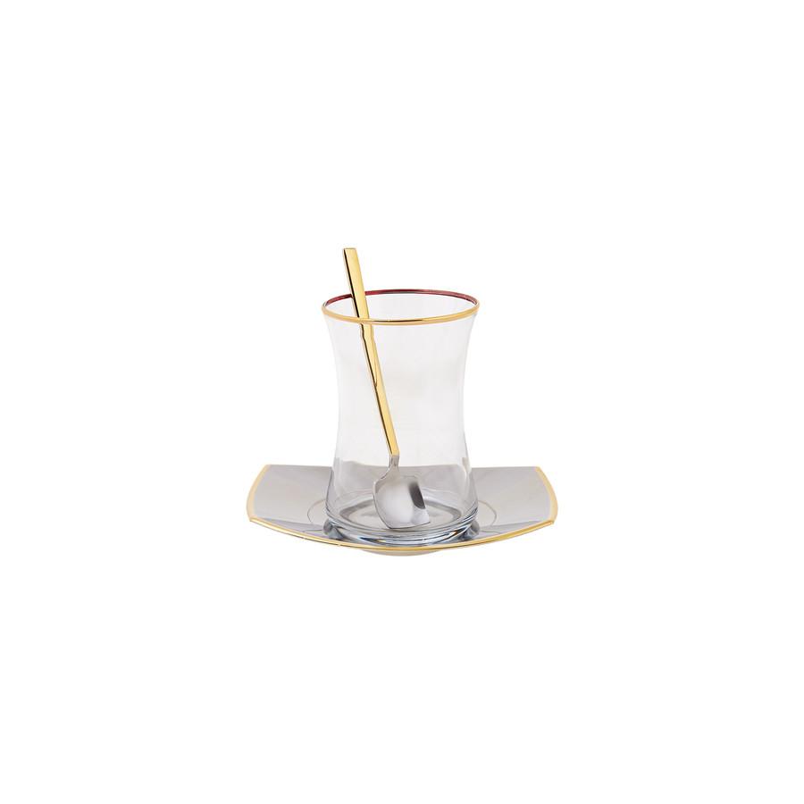 Karaca Duru Gold 41 Parça 12 Kişilik Çelik Çay Seti