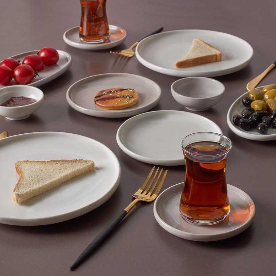 Karaca Cordelia Grey 26 Parça 6 Kişilik Kahvaltı Takımı