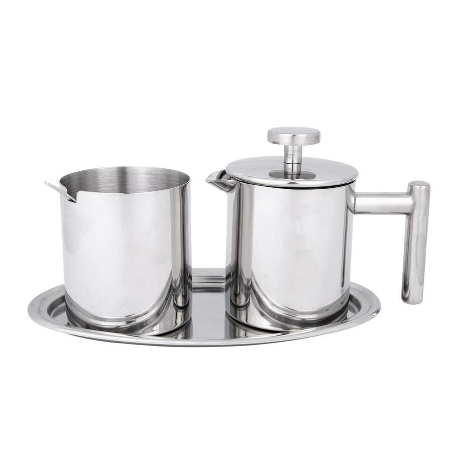 Jumbo Venti Çelik Şeker Süt Pot Seti