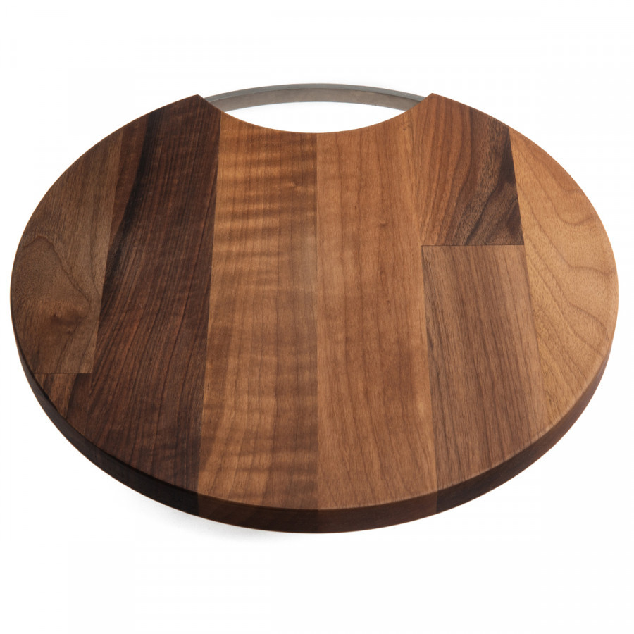 Jumbo Wood Mood Yuvarlak Kesme ve Sunum Tahtası