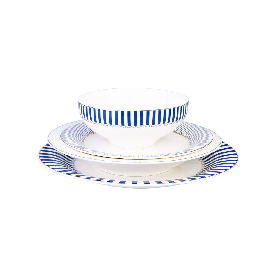 Jumbo Royal Blue Colors 24 Parça 6 Kişilik Yemek Takımı