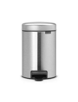 Brabantia Newicon 3 lt Matt Steel Pedallı Çöp Kutusu