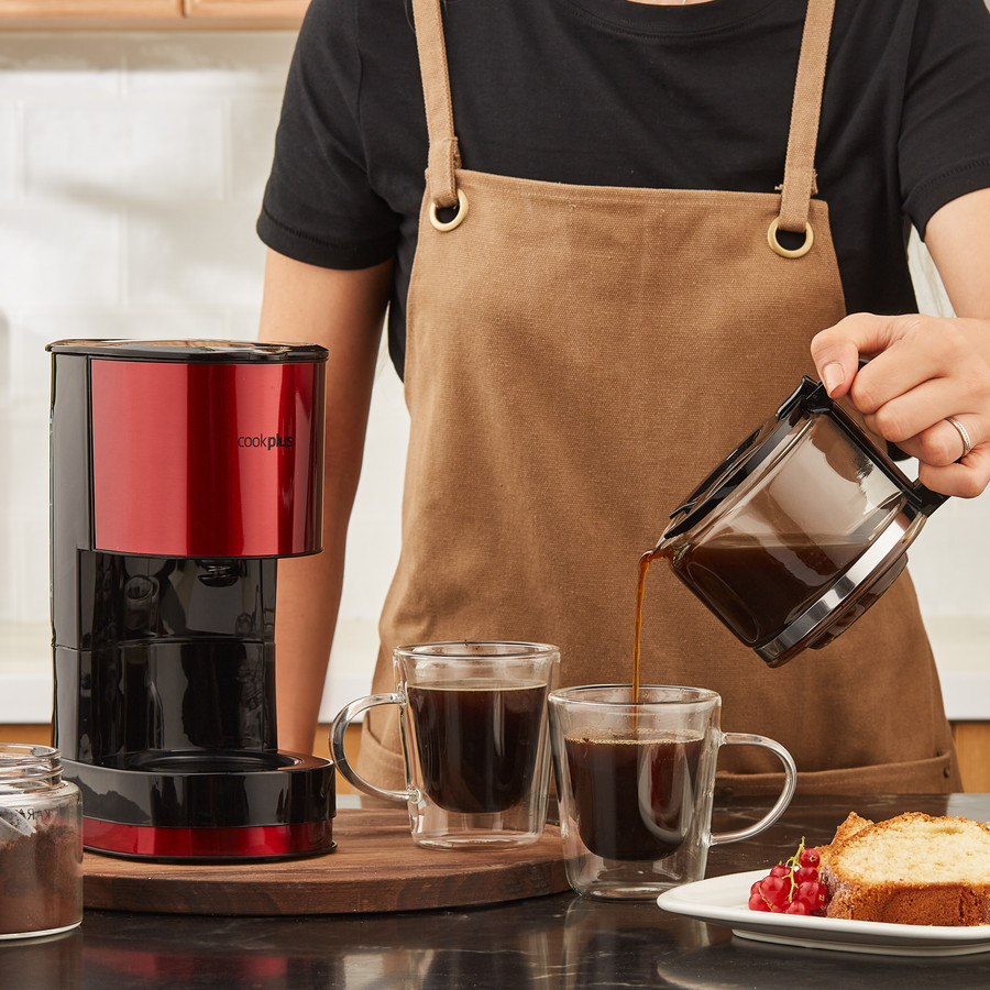 Cookplus by Karaca Coffee Keyf Filtre Kahve Makinesi Red 601