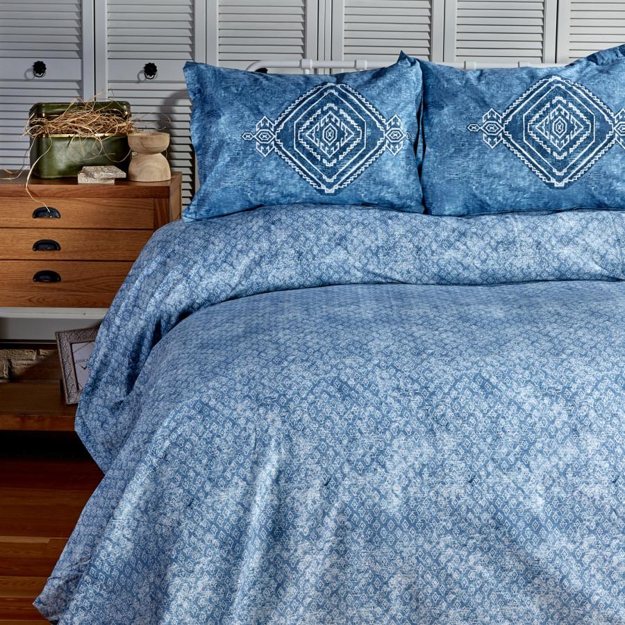 Sarah Anderson Lanika Mavi Çift Kişilik Nevresim Yastık Set