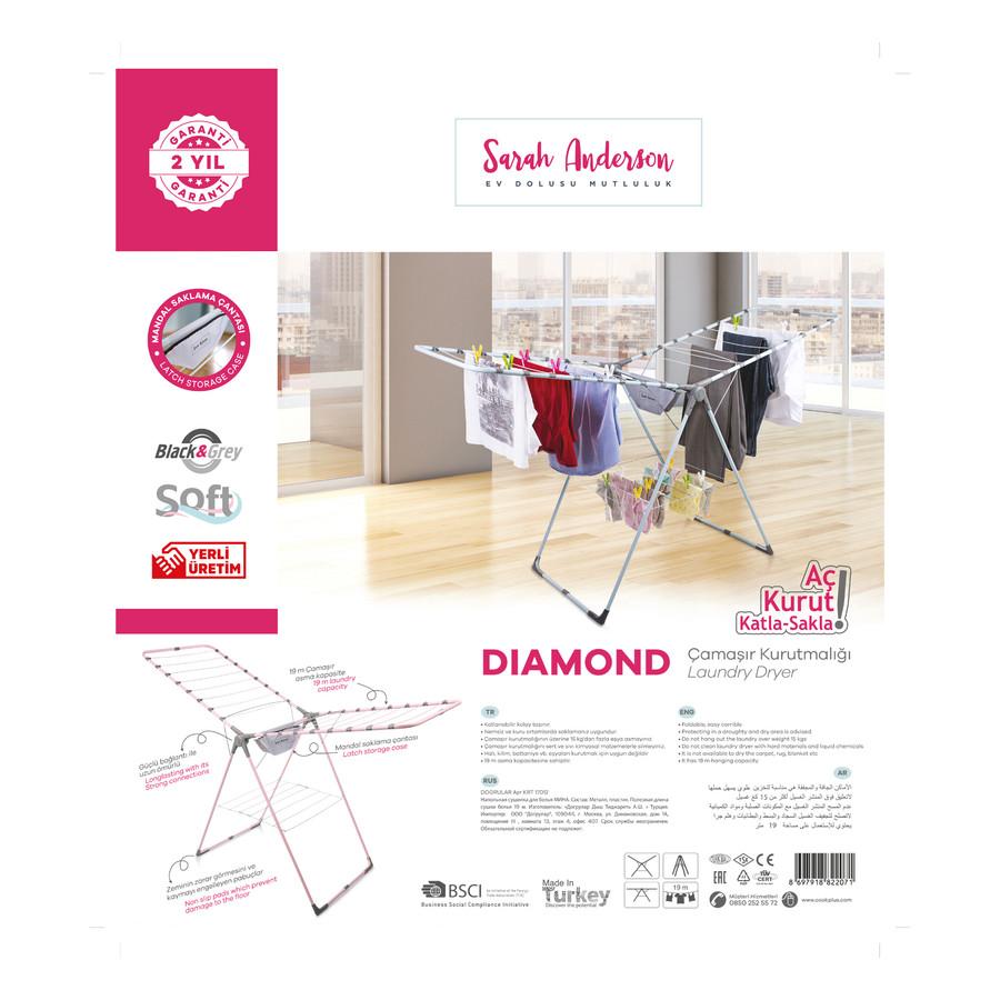 Sarah Anderson Diamond Pudra Çamaşır Kurutmalık