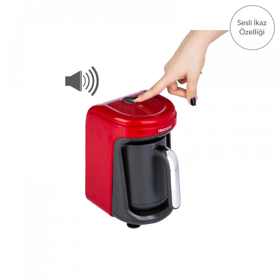 Homend Pottoman 1831h Kırmızı Türk Kahve Makinesi
