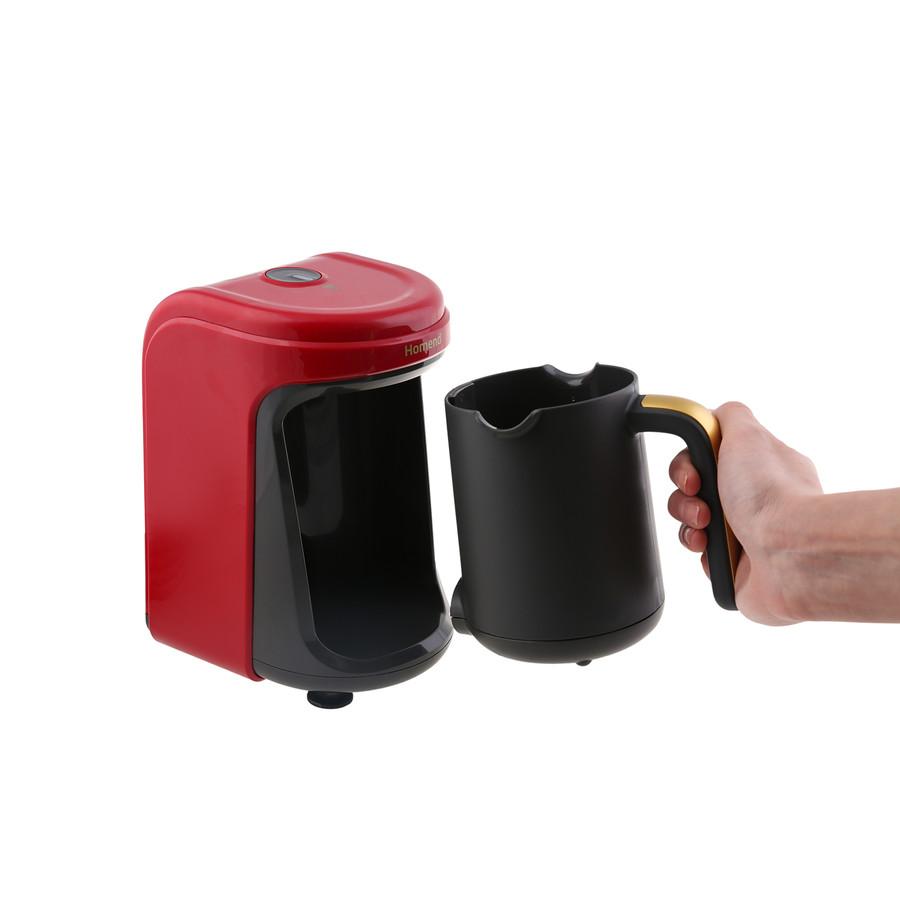 Homend Pottoman 1861h Türk Kahve Makinesi Kırmızı Gold