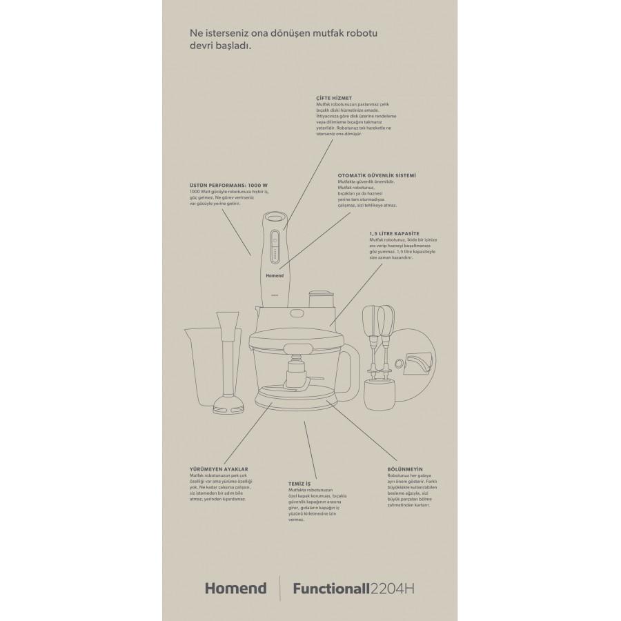 Homend Functionall 2804h Mutfak Robotu