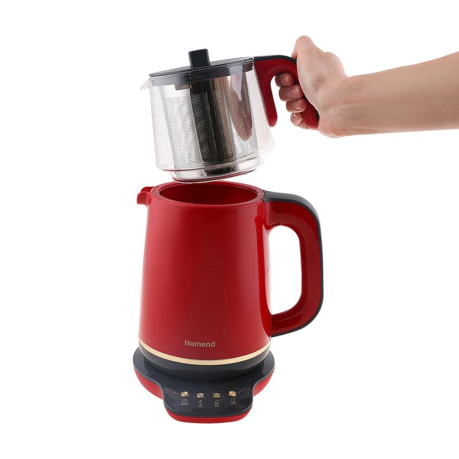 Homend Royaltea 1761h Konuşan Çay Makinesi Kırmızı Gold