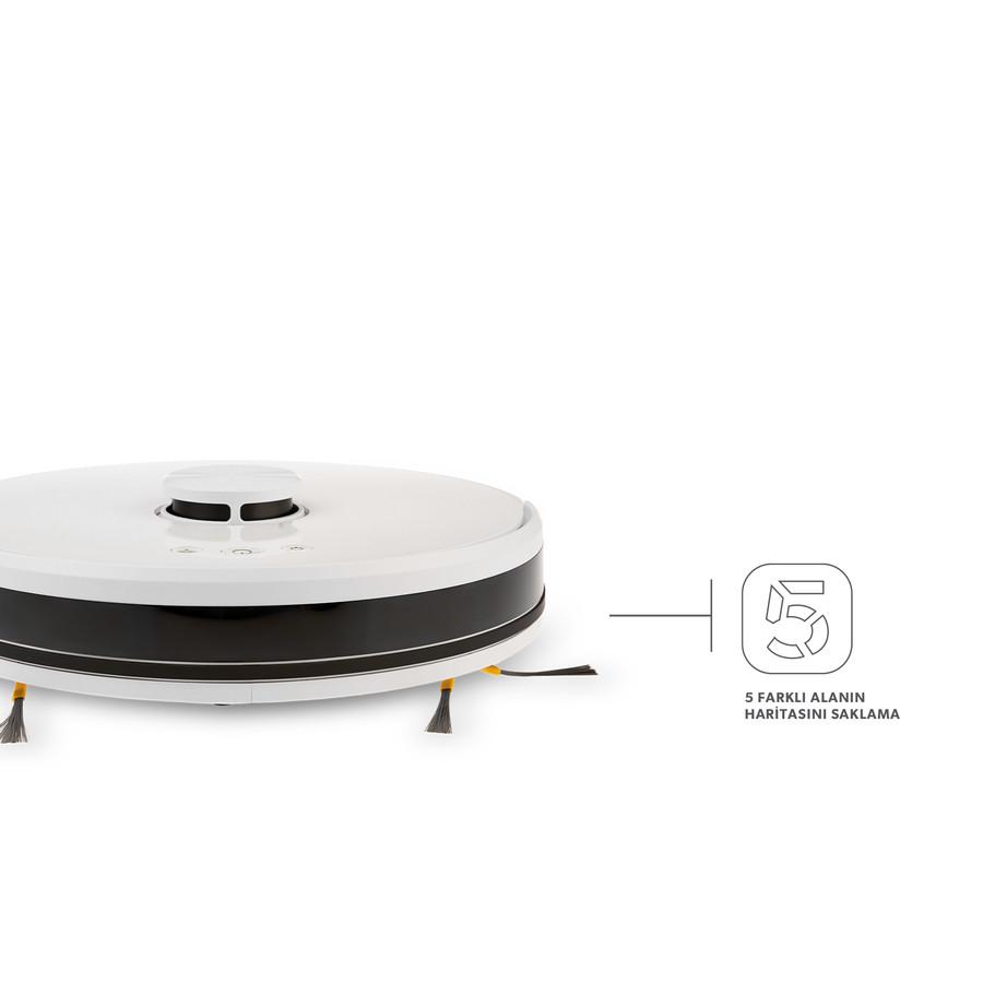 Homend Alex Laser 1281H and Mop 2in1 Akıllı Robot Süpürge Beyaz