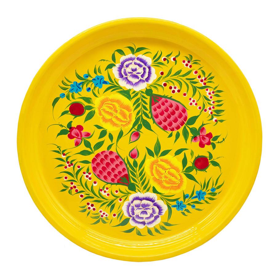 3rd Culture 3rd-2070 Sarı Blossom Tepsi
